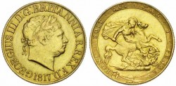 Gold sovereign George III gold coin