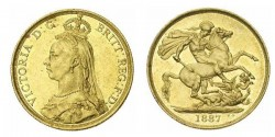 2 pound gold Victoria gold coin